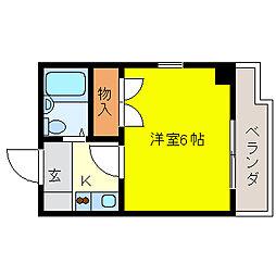 プリンセス泉[7階]の間取り