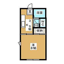 ノーウェアルーム1[1階]の間取り