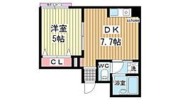 秋田マンション[103号室]の間取り