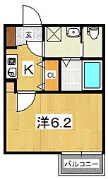 my residence鴨宮駅前[205号室号室]の間取り