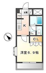 メゾンエスポアール[2階]の間取り