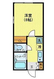 フェリーチェ東高円寺III 3階1Kの間取り