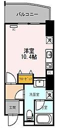 エトワール北新地 10階1Kの間取り