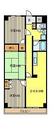 シオミプラザセブン[4階]の間取り