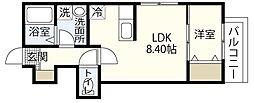 MOVE府中浜田弐番館[2階]の間取り