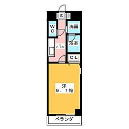 カーサビアンカ東岡崎[11階]の間取り