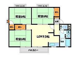 メゾンソシアル[1階]の間取り