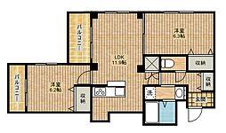 エバーグリーンIII[1階]の間取り