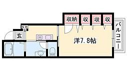 JR福知山線 三田駅 バス41分 横谷下車 徒歩16分の賃貸アパート 1階ワンルームの間取り