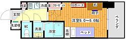 (仮)豊津駅前学生会館 5階1Kの間取り