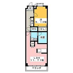 ウェルネス御器所[2階]の間取り