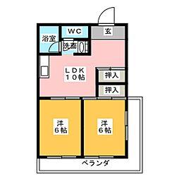 サンシャトー吉田[7階]の間取り