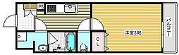 大阪府吹田市豊津町の賃貸アパートの間取り