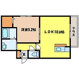 北海道札幌市中央区北六条西21丁目の賃貸マンションの間取り