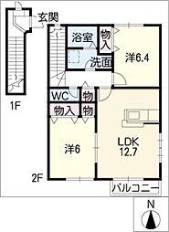 ローズ・アヴェニューI[2階]の間取り