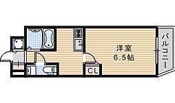 クレイドル西田辺[203号室]の間取り