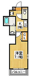 南八幡レジデンス[2階]の間取り