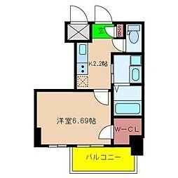プレジオ東天満[6階]の間取り