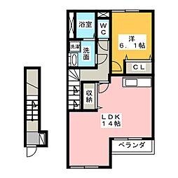 TIARA HOUSE[2階]の間取り