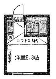 ユナイト 横浜ブルージュの杜[2階]の間取り