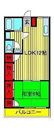 江戸川台パークハウス[202号室]の間取り