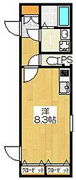 クールブラン戸越公園[1階]の間取り