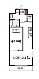 プログランツ1LDK(Aタイプ)[101号号室]の間取り