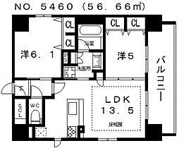 プレサンス四天王寺[401号室号室]の間取り