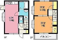 [テラスハウス] 埼玉県上尾市川1丁目 の賃貸【/】の間取り