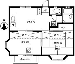 東邦レジデンス[207号室]の間取り