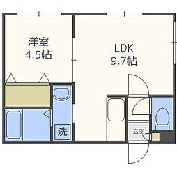 北海道札幌市中央区南四条西12丁目の賃貸マンションの間取り
