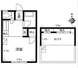 ハイツオオクボ[2階]の間取り