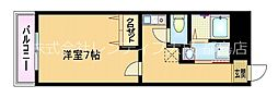 Osaka Metro谷町線 野江内代駅 徒歩2分の賃貸マンション 5階1Kの間取り