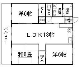 オヌキ新博多ビル[603号室]の間取り