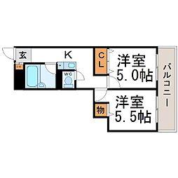 クローバーメゾン尼崎[9階]の間取り