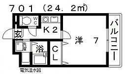 七神国府ビル[707号室号室]の間取り