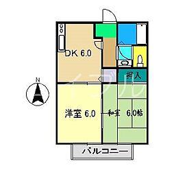 津ノ宮ガーデン[1階]の間取り