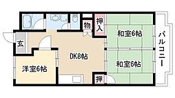 愛知県名古屋市緑区池上台2丁目の賃貸マンションの間取り