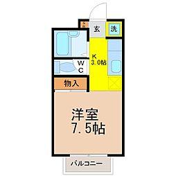 アバンティ鶴舞[1階]の間取り