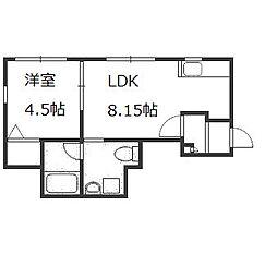 J・s court 東札幌[105号室]の間取り
