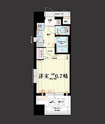エステムコート大阪城北天満の杜[8階]の間取り