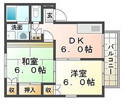 兵庫県尼崎市東難波町3丁目の賃貸アパートの間取り