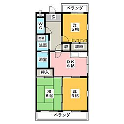 白沢田園マンション[1階]の間取り