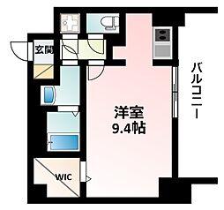 Osaka Metro御堂筋線 江坂駅 徒歩14分の賃貸マンション 2階ワンルームの間取り