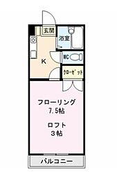 ラフォーレ坂本[206号室号室]の間取り