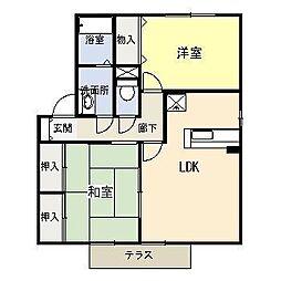 セジュールマーサ A棟[1階]の間取り
