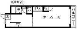 大阪府大阪市住吉区万代東1丁目の賃貸マンションの間取り