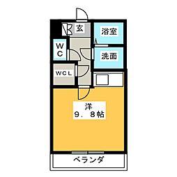 アイユー河田 A棟[1階]の間取り