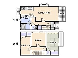 [テラスハウス] 広島県広島市佐伯区三宅3丁目 の賃貸【/】の間取り
