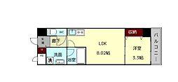 (仮)西大寺南マンション 7階1LDKの間取り